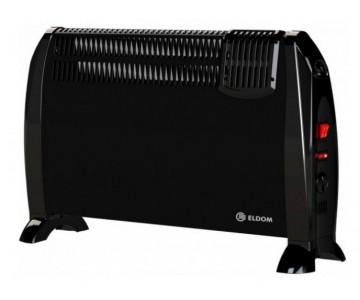 ELDOM Конвектор электр с вентилятором черный 2000w